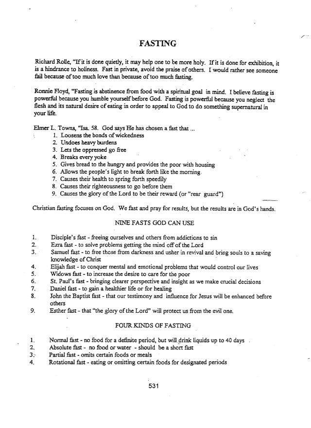 biblical restoration ministries - Fasting Types